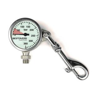Pressure gauge Best Divers 52×25 mm with carabine