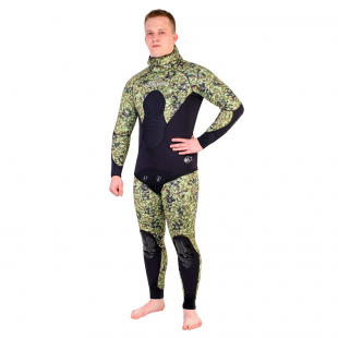 Wetsuit Scorpena C3, 5 mm, green